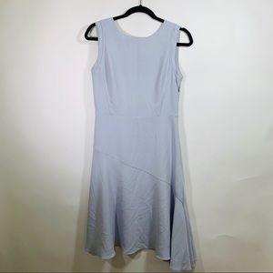 Reiss Blue Sleeveless Sheath Dress